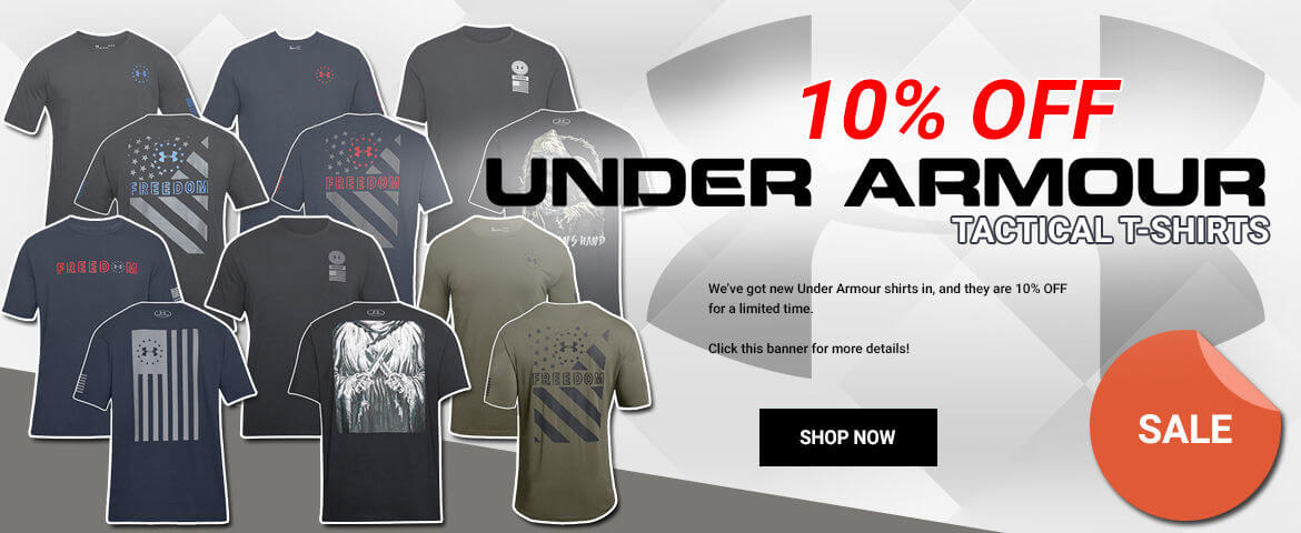 10% OFF Under Armour Tactical T-Shirts