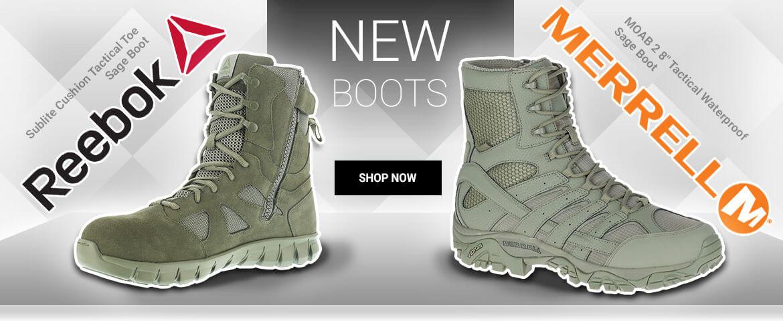 New Reebok & Merrell Boots