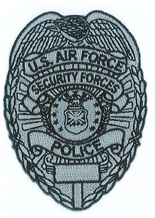 Subdued silver DAF Security Forces Police Badge Sew On Patch