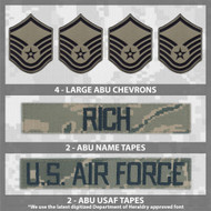 ABU Uniform name tape and rank patch bundle from Kel-Lac
