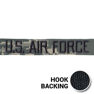 USAF ABU Branch Tape with Hook Back From Kel-Lac