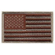 Sew on desert embroidered American flag patch