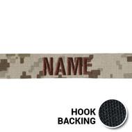 USMC Digital Desert Hook Back Name Tapes from Kel-Lac