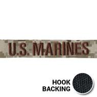 KEL-LAC® USMC BRANCH Tapes - Digital Desert (w/ Hook Back)