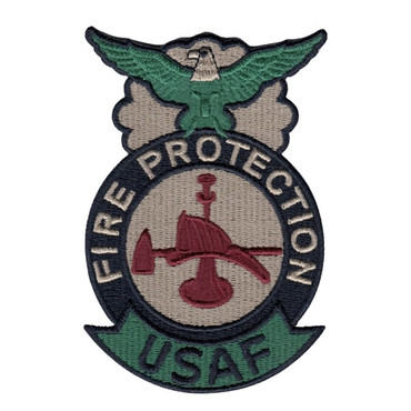 ABU Fire Fighter USAF Fire Protection Badge Patch