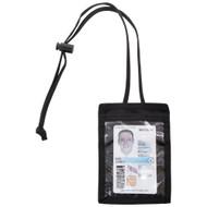Front of Black Vertical ID Holder
