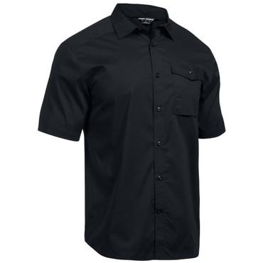 UA Tactical Button-Down - Black - Front