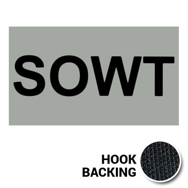 SOWT IR Duty Identifier Tab Patch with hook backing