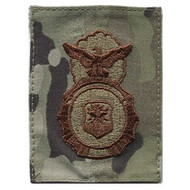 Embroidered SF shield patch in Multicam