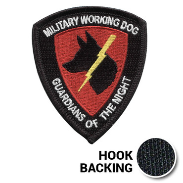 Military Working Dog Embroidered Morale Patch