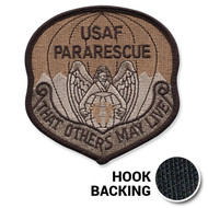 Desert Pararescue Patch with hook backing