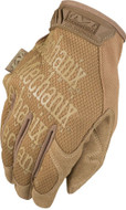 Back of Mechanix Original Tactical Gloves in Coyote