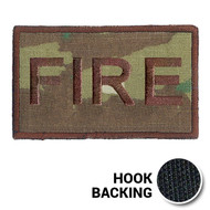 USAF Spice Brown Multicam FIRE Duty Identifier Tab Patch