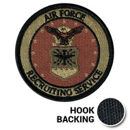 Air Force Recruiting Service Patch, Embroidered - OCP (w/ Hook Back)