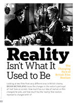 Reality Isn't What it Used to Be: The Changing Face of British Film Realism