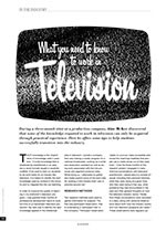 What You Need to Know to Work in Television