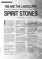 ?e are the Landscape? An Interview with Allan Collins, Director of <i>Spirit Stones</i>