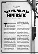 Play, Wonder and Film: Why Mr. Fox is So Fantastic