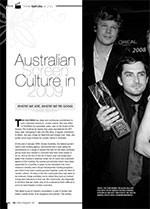 Australian Screen Culture in 2009: Where We Are, Where We?e Going