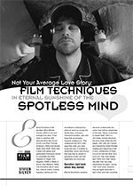 Not Your Average Love Story: Film Techniques in <i>Eternal Sunshine of the Spotless Mind</i>