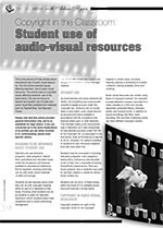 Copyright in the Classroom: Students?Use of Audio-visual Resources