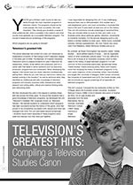 Television? Greatest Hits: Compiling a Television Studies Canon