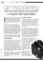 Getting Started with Gelatin Silver Photography: A Guide for Teachers