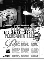 ?here Am I Going to See Colours Like That?? Bliss, Desire and the Paintbox in <i>Pleasantville</i>