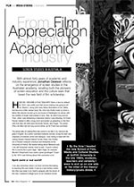 From Film Appreciation Society to Academic Industry: Screen Studies in Australia