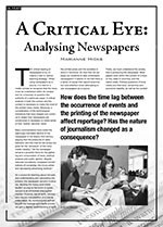A Critical Eye: Analysing Newspapers
