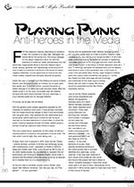 Playing Punk: Anti-heroes in the Media