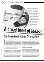 A Broad Band of Ideas: Web 2.0 @ the Learning Futures Symposium