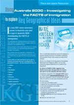 Using the Australia 2030 kit to explore Key Geographical Ideas