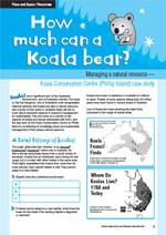 How much can a koala bear? A case study of sustainable management