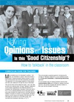 Having opinions on issues ?Is it good citizenship? The ?alkback?classroom case study