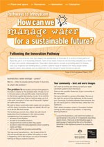 Innovation ?How can we manage water for a sustainable future?