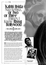 Kabhi Avida Naa Kehna' or Two or Three Things I Know About Bollywood