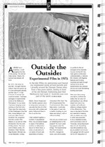 Outside the Outside: Experimental Film in 1975
