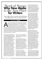 Word of Mouse: Why New Media is the New Place for Writers