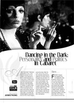 Dancing in the Dark: Personality and Politics in Cabaret