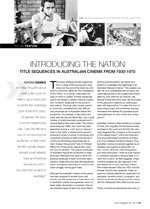 Introducing the Nation: Title Sequences in Australian Cinema From 1930-1970