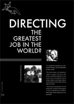 Directing: The Greatest Job in the World?