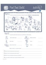 Ice Age Activity Sheets