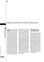 Media Education as Literacy Education