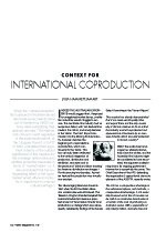 Context for International Coproduction