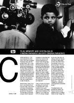 Film, Memory and Nostalgia in ?inema Paradiso?(Film as Text)