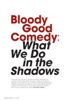 Bloody Good Comedy: <em>What We Do in the Shadows</em>