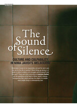 The Sound of Silence: Culture and Culpability in Nima Javidi's Melbourne
