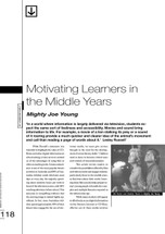 Motivating Learners in the Middle Years: 'Mighty Joe Young'