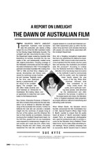 A Report on Limelight: The Dawn of Australian Film